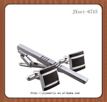 2014 fashion design tungsten cuff links & tie clips
