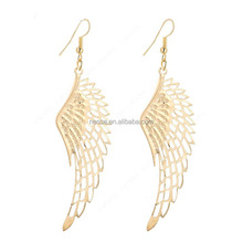 gold plated dangle long earrings with top quality big wing for women NSCC-0003