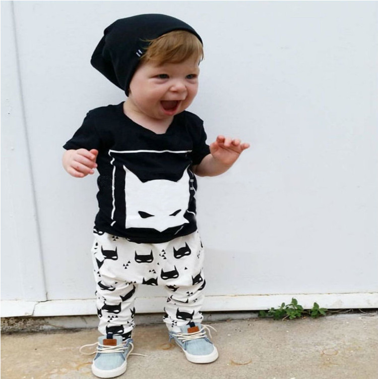 New Style Baby Boy Clothes Short Sleeve Shirt +Pants Suit Casual Baby Girl Infant Clothing Sets