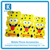 [kayoh]Hot selling silicone spongebob cute phone cases mobile phone cover plastic case for iPhone 6