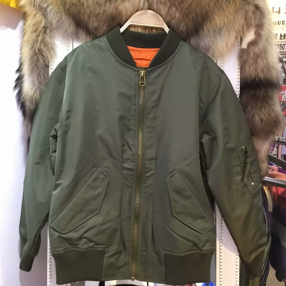 Mility Bombers Fur Parka For Ladies Winter Wear,Both Side Wear Bomber Eagle Coats