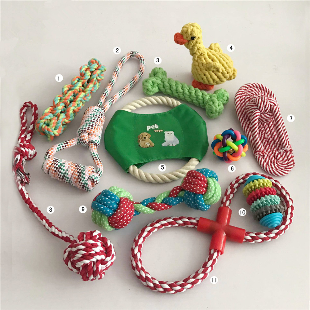 Cheap Price Pastel Knot Cotton Chew Rope Bone Pet Dog Animal Pet Rope Toys Pet Toys For Dog