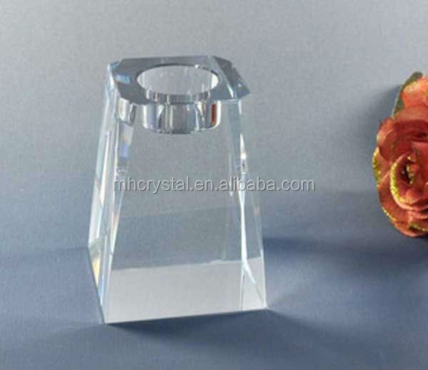 Block Crystal Tea Light Candle Holder MH-1760