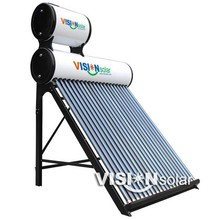 Non-pressure galvanized steel bracket double tank solar water heater