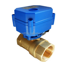 5v 12v 24v 110v 220v DN15 DN20 CWX-15N 2 way brass electric motor valve for water leakage detector equipment