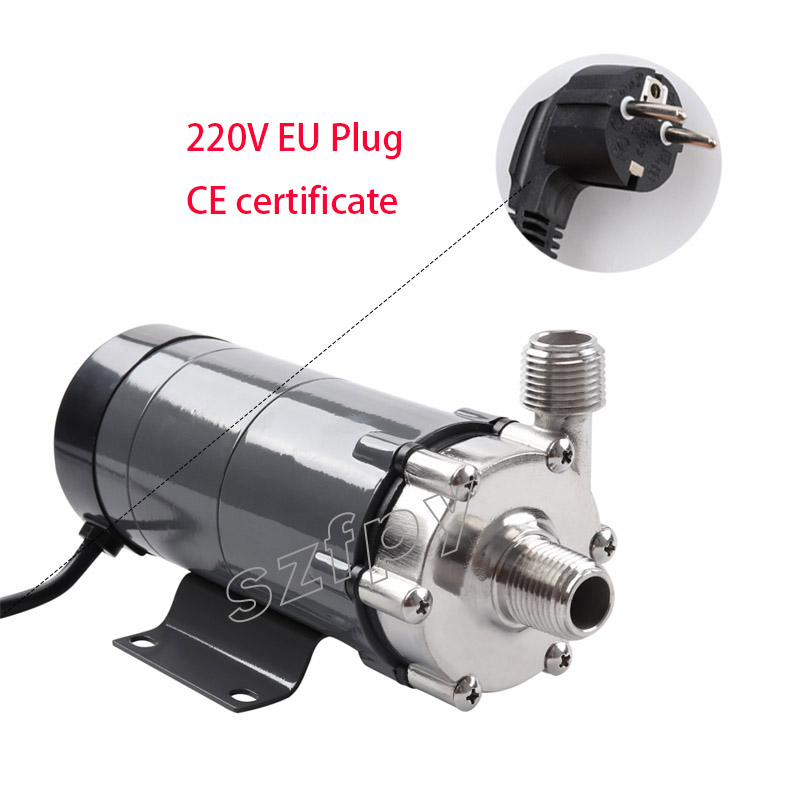 Homebrew water Magnetic Drive Pump 15R With Stainless Steel Head,Beer Brewing 220 V European Plug with 1/2 NPT thread