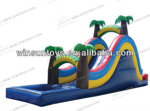 2013 new arrival inflatable water slide with pool