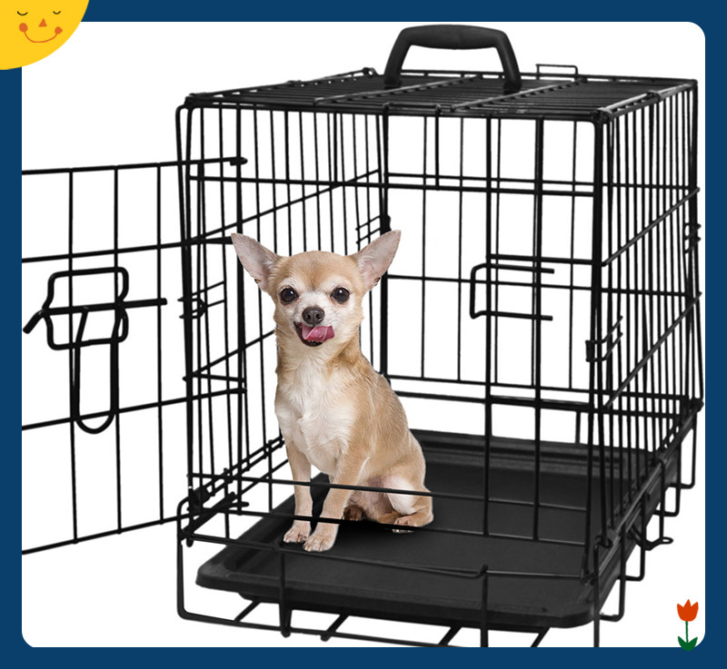 "20"" Pet Kennel Cat Dog Folding Steel Crate Animal Playpen Wire Metal Cage"