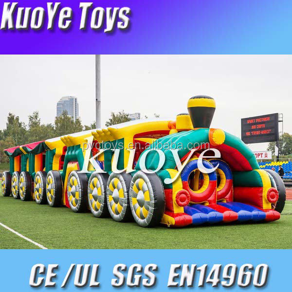 new design obstacle inflatable course with slide