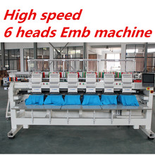 6 head Industrial embroidery machine price for sale garment cap t-shirt embroidery