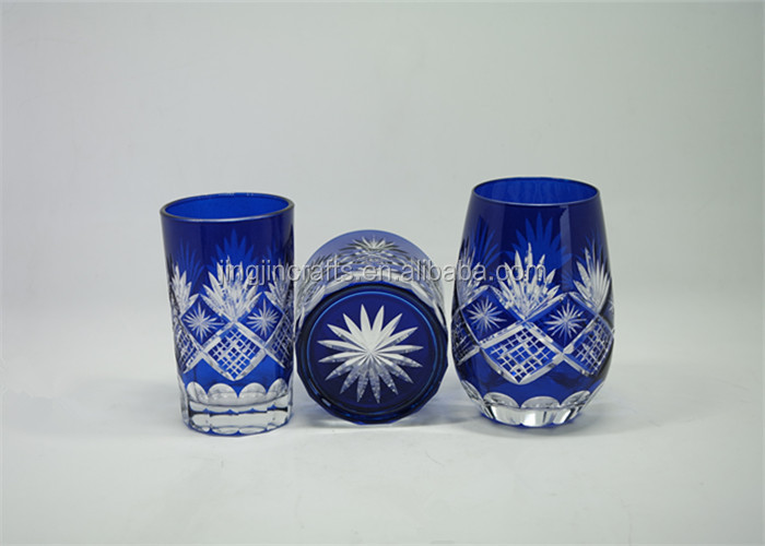 Hand engraved glass tumbler 7oz drinking cup glass cup wholesale