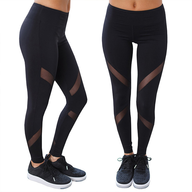 Wholesale sexy mesh leggings sports pant yoga tights jogging pant