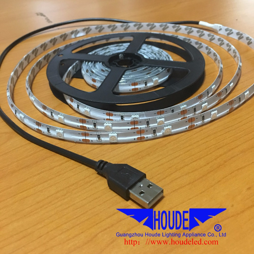 DC5V 5050 Flexible Light Strip 30leds/m 3m/roll Red &White with USB controller