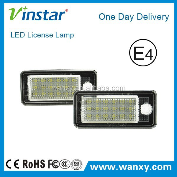 6000K pure white led license light for Audi A8 Q5 A6 S6