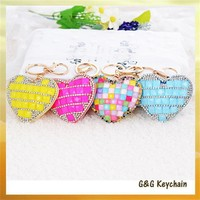 Y4195 Factory Direct Sale High-grade Rhinestone Love Heart Key chain Wholesale