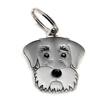 Yiwu factory cheaper wholesale Schnauzer pet dog pendant keyholder jewelry