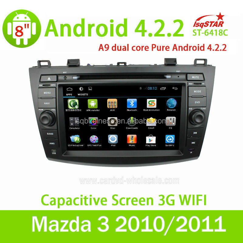 For Mazda 3 android 4.2 car radio dvd with autoradio gps