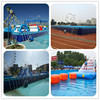 Outdoor metal frame swimming pool of galvanized seamless steel tubes