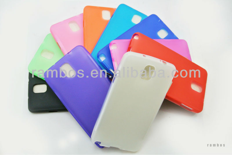 New Arrival Anti-slip TPU Gel Skin Case Matte Cover for Samsung Galaxy Note3 N9000 N9002 N9005