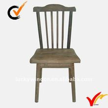 Back Design Old Farm Style Handmade Antique Wooden Kitchen Chairs