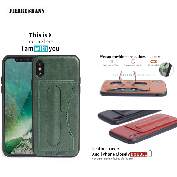 Phone accessories mobile case for iphone x case , for iphone x leather case