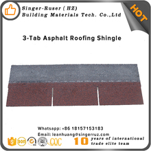 Quality 20 Years Warranty 3 5 Tab Fiberglass red asphalt roofing shingles in Australia/Bahamas/India
