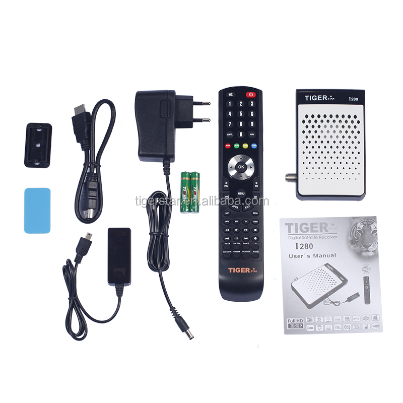 Good quality Tiger I280 HD 1080p digital satellite receiver with wifi 5000 Channel Storage