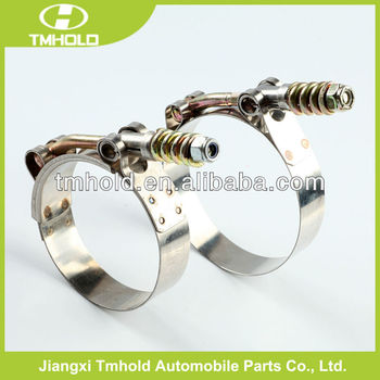 T bolt spring loaded hose clamp for turbo pipes
