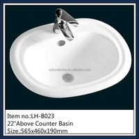 Western hotel bathroom wash basin counter designs