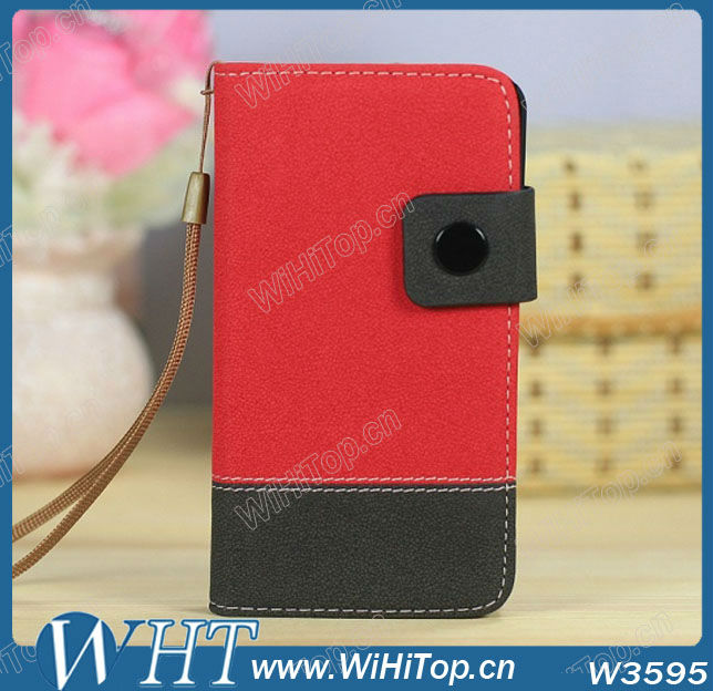 Z10 Leather case Dual Color Credit Card Holder Wallet Leather Case for blackberry z10 bb10.