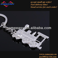 zinc alloy promotion gifts 3d train key chain
