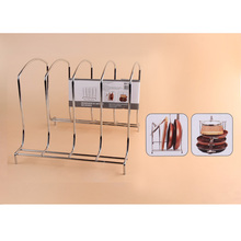 Toprank Hot Selling Kitchen Steel Wire Pan Pot Holder Organizer Storage Rack Pot Lid Rack Kitchen Organizer Rack