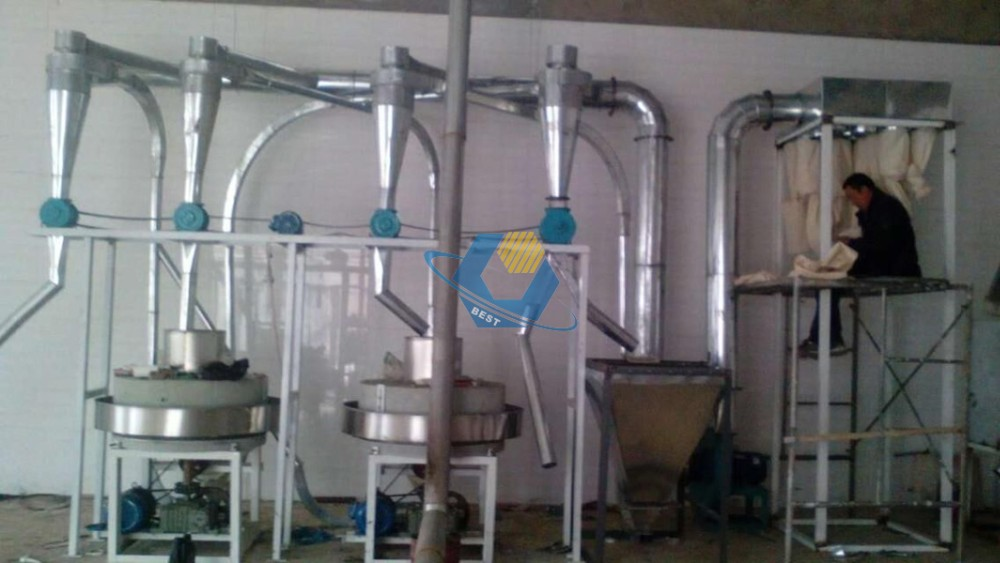 Natural high nutrition value wheat flour automatic stone mill for sale
