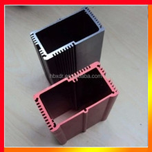 Anodized CNC machined custom extruded aluminum generator enclosure