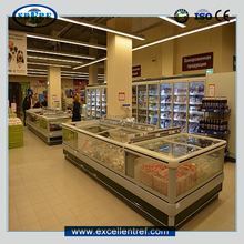 supermarket commercial cryogenic freezer for frozen food/meat/seafood display
