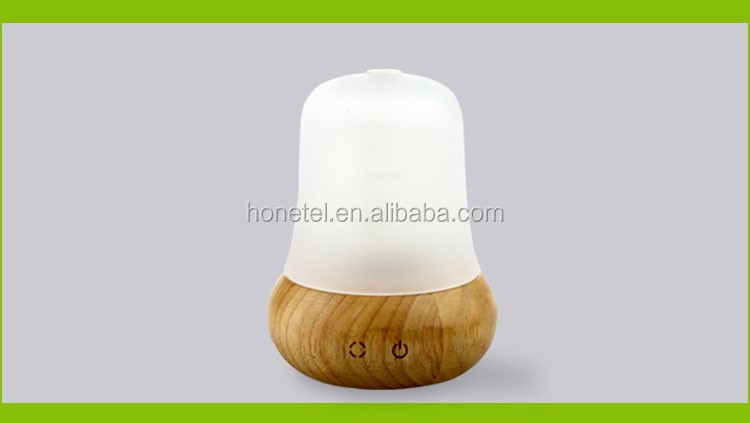 New product ideas 2018 glass wooden Oak LED Night Light electric touch screen control Essential Oil Ultrasonic aroma diffuser
