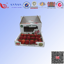 Strawberry packaging delivery corrugated packaging box paper envorinment protect material