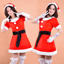 Fashion Design cosplay Santa Claus Costume Women Sexy Party Maid Dress Sexy Lingerie Christmas Cosplay Costume