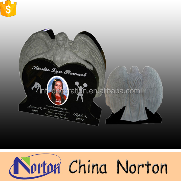 New design black granite little angel monument baby tombstone NTGT-050L