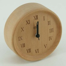 High quality natural table clock wood