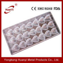 heart design PC chocolate mold for 21 chocolate molds