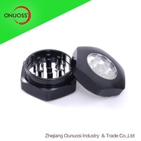 Zhejiang Ounuosi Aluminum 50MM-2 Tier Hexagon Manual aluminum herb grinder