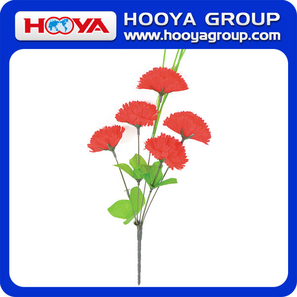 34cm 5 Stems Promotional Silk Carnation Artificial Flower