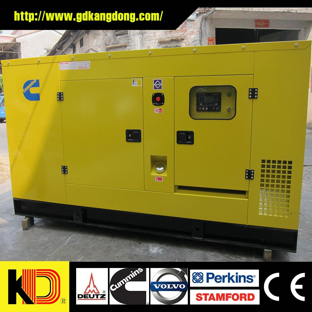 Silent type diesel generator 50KW 63KVA 50Hz powered by Cummins engine