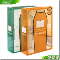 Clear Cheap Hard PVC/PP/PET Plastic Small Gift Packing Folded Box