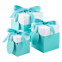 Christmas Gift Boxes Birthday Gift boxes with Tags & Ribbon 3 colors