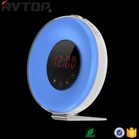 Nature Sounds LED Digital Time Display 7 Color Changing Wake Up Light Sunrise Simulation Kids Alarm Clock
