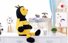 bee plush stuffed toys/stuffed toy bee wholesale/pp cotton plush toy custom