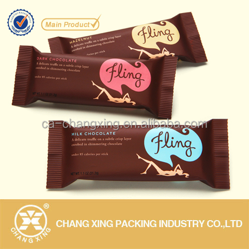 OEM design metalized chocolate bar wrappers
