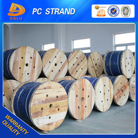 High tensile galvanized steel pc strand wire metal building material with 12.7mm 15.2mm